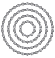 Set of round frames made of metal bicycle chain vector image vector image