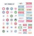 set stickers for planners and to do lists vector image