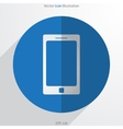 smart phone web flat icon vector image vector image