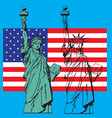 statue liberty symbol new york or usa us vector image