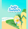summer time background sunny beach vector image
