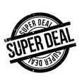 super deal rubber stamp vector image vector image