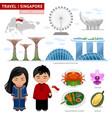 travel to singapore singaporeans peoples in vector image vector image