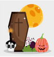trick or treat - happy halloween vector image