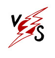 versus sign like opposition concept of vector image