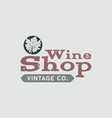 wine logo shop logotype label vintage co poster vector image vector image
