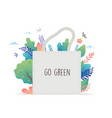 Zero waste environmental go green concept design