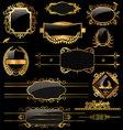 Elegant gold and black labels vector image