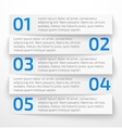 Modern white infographic business options banner vector image