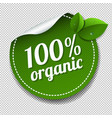100 organic product label isolated transparent