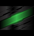 abstract green light banner on dark gray metal vector image vector image