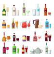 alcoholic and soft drinks beverages in glass and vector image vector image