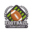 american football sport ball isolated icon vector image vector image