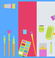 art supplies banners vector image vector image