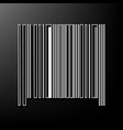 bar code sign gray 3d printed icon on vector image vector image