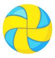 beach volleyball ball icon cartoon style vector image vector image