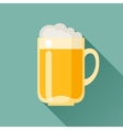 beer mug in flat design style vector image vector image