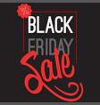 black friday big sale lettering logo sign vector image vector image