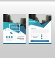 Blue polygon annual report Leaflet Brochure vector image