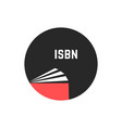 book with isbn in circle vector image vector image