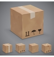 Boxes icons vector image vector image