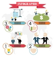 business plan concept steps infographics flat vector image vector image