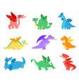 cartoon dragons fairy tale dragon funny reptile vector image vector image