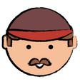 cartoon man face icon vector image vector image