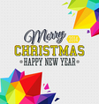Christmas background with bright triangle elements vector image