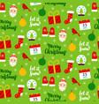 christmas seasonal seamless pattern vector image vector image