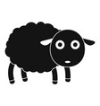 cute sheep icon simple style vector image vector image