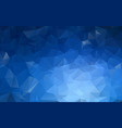 dark blue low poly crystal background polygon vector image vector image