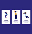 delight and amorous people with thumbs up gesture vector image