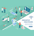 doctors innovative healthcare concept 3d isometric vector image vector image