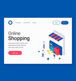 ecommerce mobile store concept vector image vector image