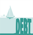 Economy and debt vector image