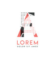 fa modern logo design with gray and pink color vector image vector image