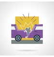 Flat color icon for car crash vector image vector image