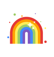flat style of rainbow vector image vector image
