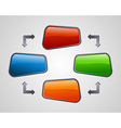 Fresh glossy social media diagram presentation vector image