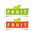 Fruit label set vector image