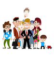 Funny people vector image vector image