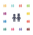 girl and boy flat icons set vector image vector image