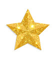 glitter gold star isolated on white backgro vector image
