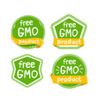 gmo free product icon isolated logo vector image vector image