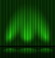 Green drapes vector image vector image