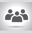 group people sign icon share symbol button vector image vector image
