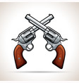 gun design on white background vector image vector image