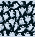halloween ghost cartoon seamless pattern vector image vector image