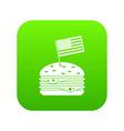 hamburger icon digital green vector image vector image